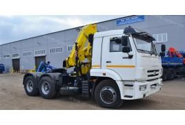 Встречайте cедельный тягач КАМАЗ 65116 с КМУ HYVA CRANE HB150E2.