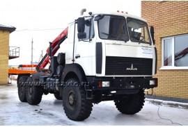 Седельный тягач  МАЗ (6х6) с КМУ Fassi F85B.0.23