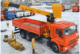 Бортовой автомобиль КАМАЗ 65115 с КМУ Soosan SCS736 LII TOP (СПМ 732450)