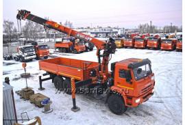Бортовой КАМАЗ-43118 с КМУ Hangil HGC976 (Модель 732407)