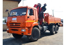 Бортовой автомобиль КАМАЗ 43118 (6х6) с КМУ Fassi F155A.2.26 (Модель 732407)