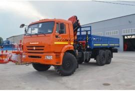 Бортовой автомобиль КАМАЗ 43118 (6х6) с КМУ Palfinger PK15500A (Модель 732407)
