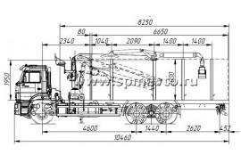 Сортиментовоз КАМАЗ 6520 (6х4) с ОМТЛ-97-03 (ВЕЛМАШ) за кабиной (Модель 732352)
