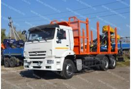 Сортиментовоз КАМАЗ 6520 (6х4) с ОМТЛ-97-03 (ВЕЛМАШ) на заднем свесе (Модель 732351)