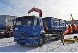 Самосвал КАМАЗ 65117 с КМУ Fassi  F110A.0.22 (СПМ 732458)