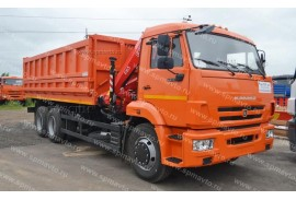 Самосвал КАМАЗ 65115 с КМУ Fassi F65A.0.22 (СПМ 732454)