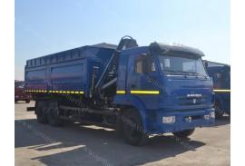 Самосвал КАМАЗ 65117 с КМУ HIAB 166B-2Duo (СПМ 732458)