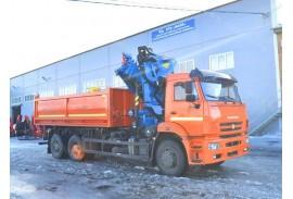 Самосвал КАМАЗ 6520 с КМУ Инман ИМ 240 (СПМ 732338)