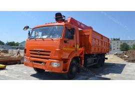 Самосвал КАМАЗ 65115  (6х4) с КМУ Kanglim KS1256G-II (Модель 732454)