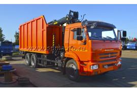 Металловоз КАМАЗ 65115 с ГМУ ВЕЛМАШ VM10L74M