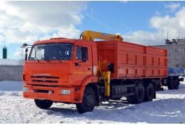 Самосвал КАМАЗ 65115 с КМУ Soosan SCS 513 STD (СПМ 732454)