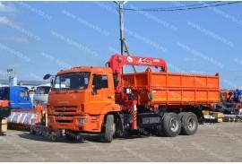 Самосвал КАМАЗ 65115 с КМУ Unic URV-503 (СПМ 732454)