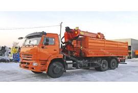 Самосвал  КАМАЗ 6520  с КМУ Инман ИТ 150 (СПМ 732338)