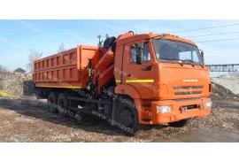 Самосвал КАМАЗ 65115 с КМУ Palfinger PK15500A (СПМ 732454)