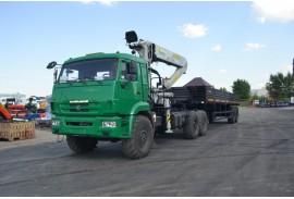Седельный тягач КАМАЗ 43118 с КМУ Инман ИФ 300 (СПМ 732704)