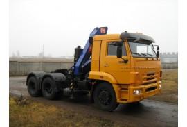 Седельный тягач КАМАЗ 65116 с КМУ РМ-14022 (СПМ 732315)