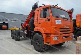 Седельный тягач КАМАЗ 43118 с КМУ Fassi 215 A.0.22 (СПМ 732704)