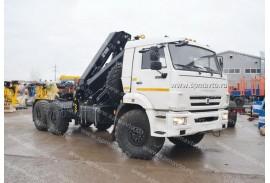 Седельный тягач КАМАЗ 43118 с КМУ HIAB 211 EP-3 Duo (СПМ 732409)