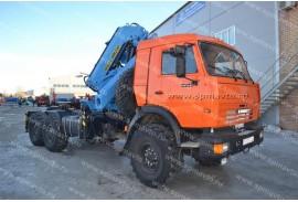 Седельный тягач КАМАЗ 43118 с КМУ Инман ИМ 240 (СПМ 732409)