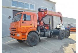 Седельный тягач КАМАЗ 43118 с КМУ Инман ИТ180 (СПМ 732704)