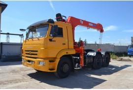 Седельный тягач КАМАЗ 65116  с КМУ Kanglim KS1256G-II (СПМ 732315)