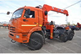 Седельный тягач КАМАЗ 53504 с КМУ Kanglim 1256G-II (СПМ 732414)